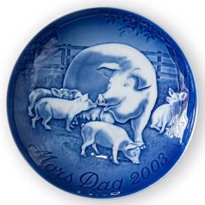 Sow with piglets 2003, Bing & Grondahl Mother's Day plate