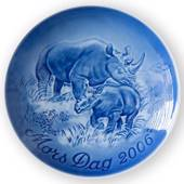 Rhino with calf 2006, Bing & Grondahl Mother's Day plate