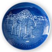 Giraffe with calf 2009, Bing & Grondahl Mother's Day plate