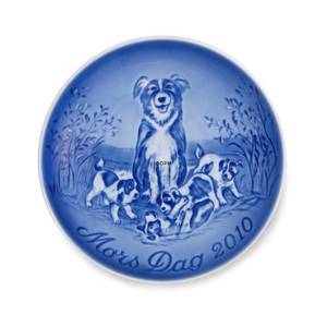 Border Collie with puppies 2010, Bing & Grondahl Mother's Day plate
