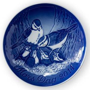 Blue tits with cubs 2014, Bing & Grondahl Mothers Day plate | Year 2014 | No. BM2014 | Alt. 1902714 | DPH Trading