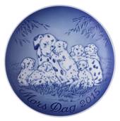 Dalmatian with puppies 2015, Bing & Grondahl Mother's Day plate