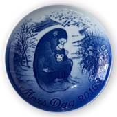 Chimpanzee with Baby 2016, Bing & Grondahl Mother's Day plate