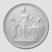 Thorvaldsen plaster plate, Woman with Children, Bing & Grondahl