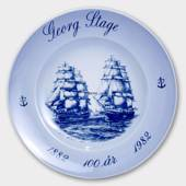 Georg Stage 100 Years Jubilee plate/bowl 1882-1982, Bing & Grondahl