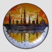 Centenary Annual plate Dawn over Copenhagen, Bing & Grondahl