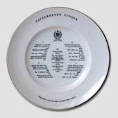Song plate, Plate with verse, 25cm, Bing & Grondahl