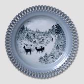 Bing & Grondahl, Plate, Animals in Twilight