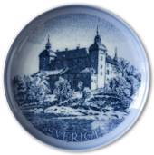 Swedish Stamp plate with Tido Castle, Sweden, drawing in blue, Bing & Grond...