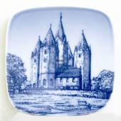 Plate with Kalundborg Church, Bing & Grondahl