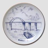 Plate, Rudkoebing, drawing in blue, Bing & Grondahl