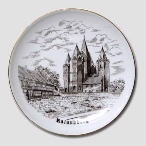 Plate Kalundborg Church, drawing in brown, Bing & Grondahl | No. BNR3915-619 | Alt. B.NR.725 | DPH Trading