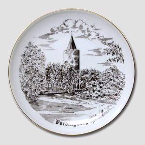 Vordingborg plate, drawing in brown, Bing & Grondahl | No. BNR3919-619 | Alt. B.NR.752 | DPH Trading