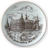 Frederiksborg Castle, drawing in brown, Bing & Grondahl