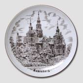 Bing & Grondahl Plate with The Castle of Rosenborg, drawing in brown