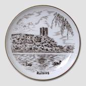 Bing & Grondahl Plate with Kolding Hus, drawing in brown