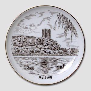 Bing & Grondahl Plate with Kolding Hus, drawing in brown | No. BNR4041-619 | DPH Trading