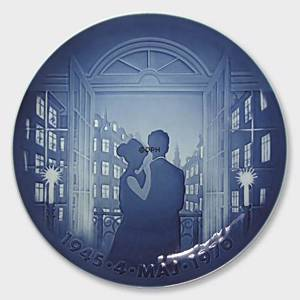 Memorial plate, May 4th 1945-1970, Bing & Grondahl | Year 1970 | No. BNR405 | Alt. B.NR.405 | DPH Trading