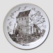 Paarup Church plate, drawing in brown, Bing & Grondahl
