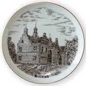 Frederiksborg Castle - Hillerød plate, drawing in brown, Bing & Grondahl