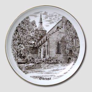 Bing & Grondahl Odense plate, drawing in brown | No. BNR4133-619 | Alt. B.NR.800 | DPH Trading