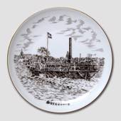 Bing & Grondahl Plate, Svendborg, drawing in brown