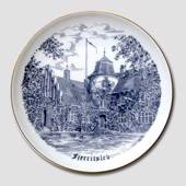 Bing & Grondahl Plate, Fjerritslev, drawing in blue