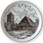 Hillerød Church plate, drawing in brown, Bing & Grondahl