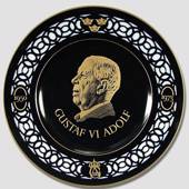 Nordic Kings memorial plate, Gustaf VI Adolf 1950 - 1973, Bing & Grondahl