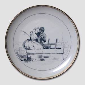 Hans Christian Andersen fairytale plate, The Shepherdess and the Sweep no. 1, Bing & Grondahl | No. BNR4513-620 | Alt. B.NR.1018 | DPH Trading
