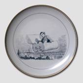 Hans Christian. Andersen fairytale plate, The Flying Trunk no. 4, Bing & Gr...