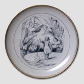 Hans Christian Andersen fairytale plate, Thumbelina, no. 6, Bing & Grondahl