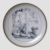 Hans Christian Andersen fairytale plate, The Ugly Duckling, no. 7, Bing & G...