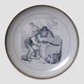 Hans Christian Andersen fairytale plate, Little Claus and Big Claus, no. 8,...
