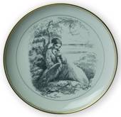 Hans Christian Andersen fairytale plate, The Wild Svans, no. 9, Bing & Gron...