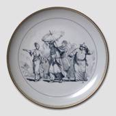 Hans Christian Andersen fairytale plate,The Nightingale, no.10, Bing & Gron...