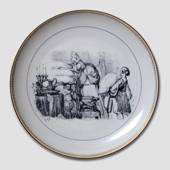 Hans Christian Andersen fairy tale plate, The Princess on the pea, no. 11, ...