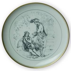 Hans Christian Andersen fairy tale plate, The Little Mermaid no. 12, Bing &...