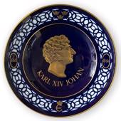 Nordic Kings commemorative plate, Karl XIV Johan, Bing & Grondahl