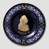 Nordic Kings commemorative plate, Gustav III, Bing & Grondahl