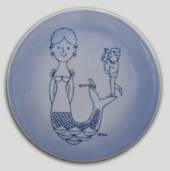 Plate with mermaid and photographer, Bing & Grondahl