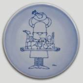 Plate with Viking with tray, Bing & Grondahl