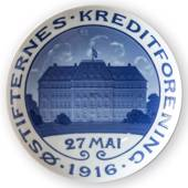 1916 Memorial plate, Oestifternes Credit Association May 27th, Bing & Grond...