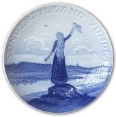 Memorial plate, Reunion with Northern Schleswig, 20 cm. Bing & Grondahl