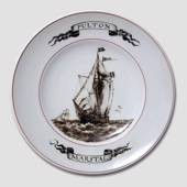 Plate with Sailing Ship, Fulton Marstal, Bing & Grondahl