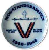 Plate for the resistance 1940-1945 Bing & Grondahl