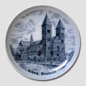 Plate Viborg Cathedral , drawing in blue | No. BNR8340-619 | Alt. BNR8340-619 | DPH Trading