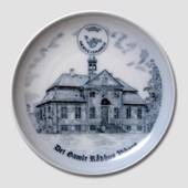 Plate , Ox Road March, The Old City Hall Viborg, Drawing in blue, Bing & Gr...