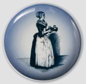 Plate with Lady Serving chocolate - Cloetta, Bing & Grondahl