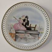 Hans Christian Andersen plate,The Shephardess and the Chimney-Sweep, Bing &...